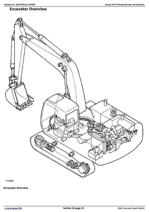 Deer 230LC Excavator (Metric) Service Repair Technical