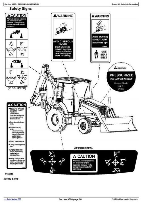 John Deere 710G Backhoe Loader Diagnostic, Operation and