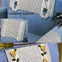 Chair Covers Cotton Indoor Rattan Cushions Pansy Or Grape Trimmed Back Sets Crochet Pattern - Download M...