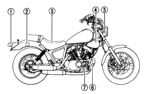 YAMAHA VIRAGO XV250 SERVICE WORKSHOP MANUAL 1988 1989 1990 1991 199...