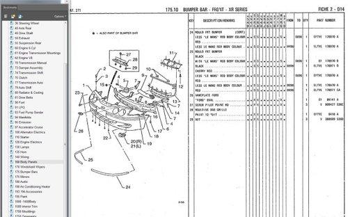 Ford 2000 Tractor Dash Wiring Ford Falcon 1995 1998 Ef El Fairlane Nf Nl Ltd Df Dl Parts