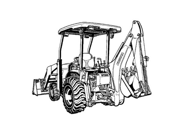 Kubota B26 BT820 Back Hoe Parts Manual