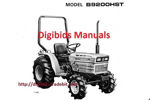 Kubota B9200 Hst Operator Manual (Hi Quality)Download