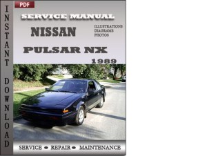 Nissan Pulsar NX 1989 Service Repair Manual Download
