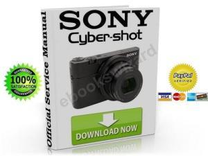 Sony CyberShot DSCRX100 Service Manual  Repair Guide