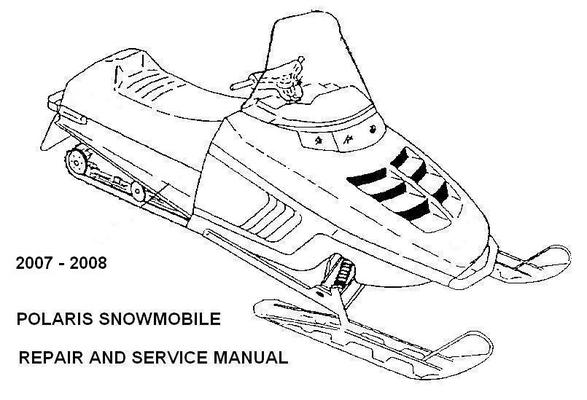 Polaris Snowmobile 2007 2008 Repair Service Manual IQ RMK