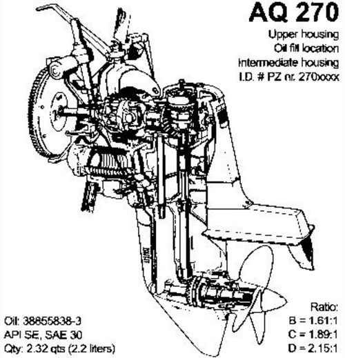 VOLVO PENTA AQUAMATIC 270 T AQ270 OUTBOARD WORKSHOP MANUAL