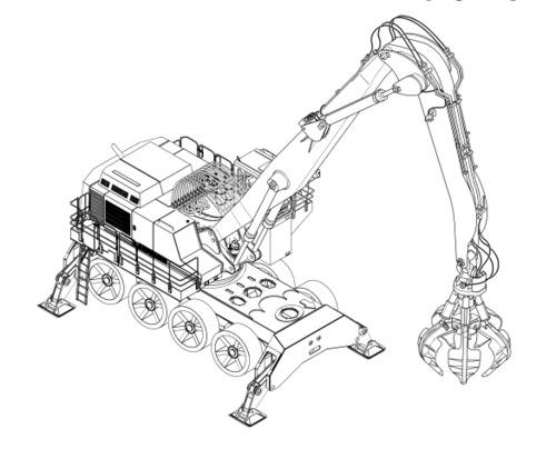 LIEBHERR A974B Litronic HYDRAULIC EXCAVATOR OPERATION
