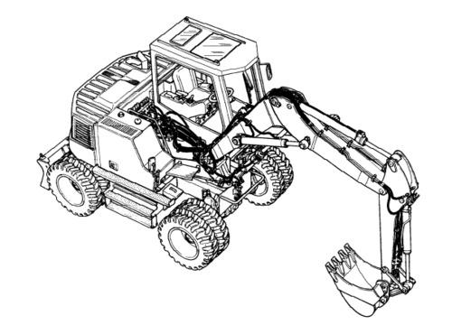 LIEBHERR A914 Litronic HYDRAULIC EXCAVATOR OPERATION