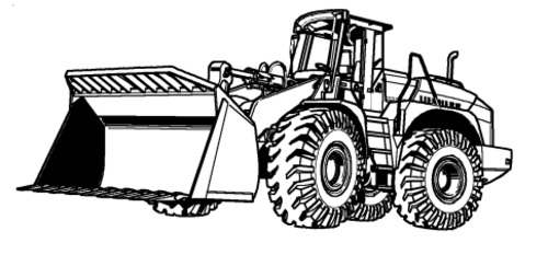 LIEBHERR L554 WHEEL LOADER OPERATION & MAINTENANCE MANUAL