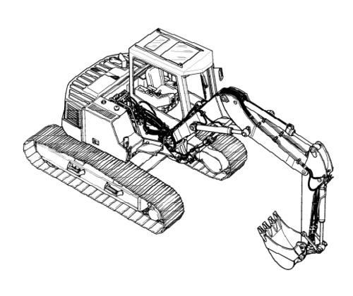 LIEBHERR R317 Litronic HYDRAULIC EXCAVATOR OPERATION