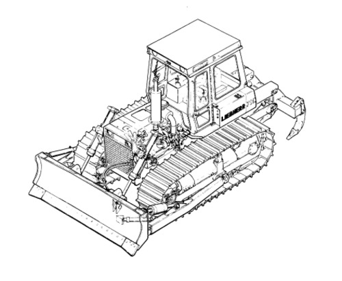 LIEBHERR SR712B Litronic CRAWLER DOZER OPERATION