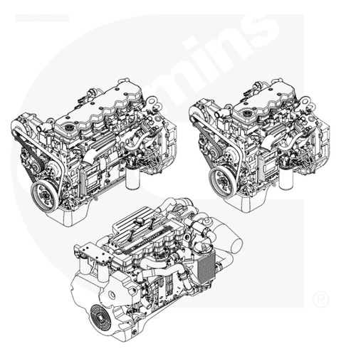 Cummins ISB, ISBe, ISBe4, QSB4.5, QSB5.9, QSB6.7 Engines