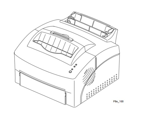 Xerox DocuPrint P8e / P8ex Electronic Laser Printer