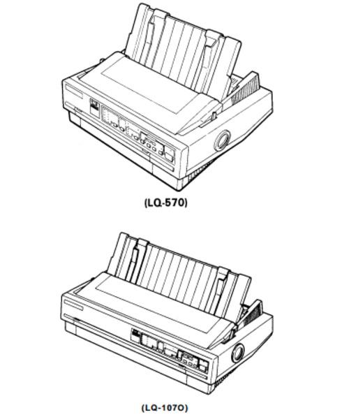 Epson LQ-570 / LQ-1070 Terminal Printer Service Repair