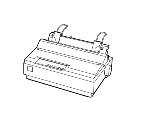 Epson LX-300+ 9-pin Serial Impact Dot Matrix Printer