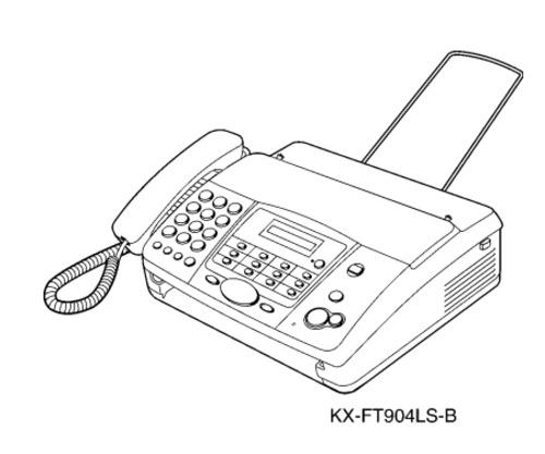 Panasonic KX-FT902LS-B, KX-FT904LS-B Personal Facsimile