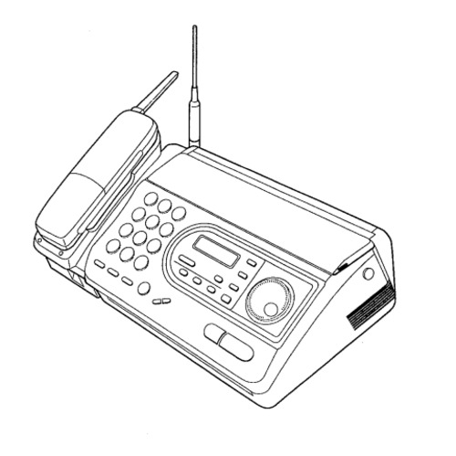 Panasonic KX-FTC47BX Telephone Answering System With