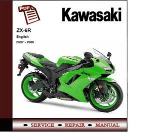 2007  2008 Kawasaki Ninja ZX6R ZX6R Service Repair Manual  Downl