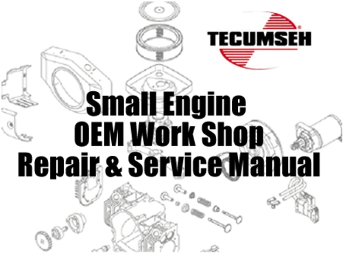 Tecumseh Small Engine Master Service & Repair Manual Set