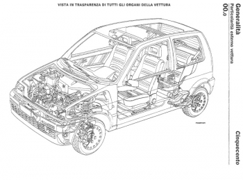 FIAT CINQUECENTO 1991-1998, SERVICE, REPAIR MANUAL