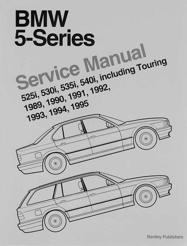 BMW 520I, 530I E34 1989-1995, REPAIR, SERVICE MANUAL
