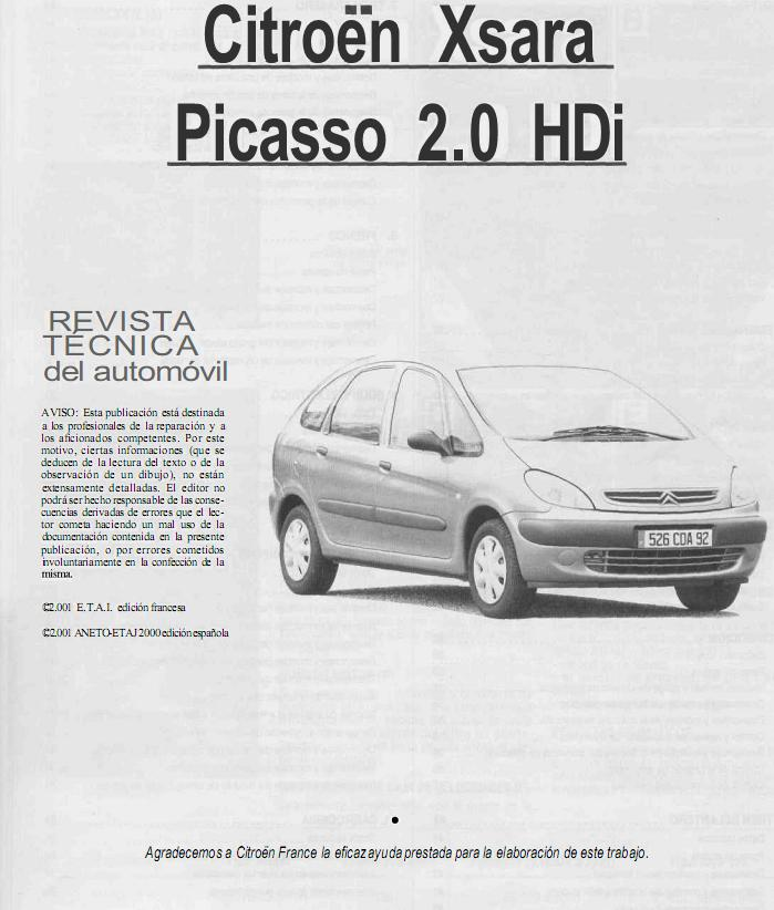CITROEN XSARA PICASSO 1999-2008, SERVICE, REPAIR MANUAL