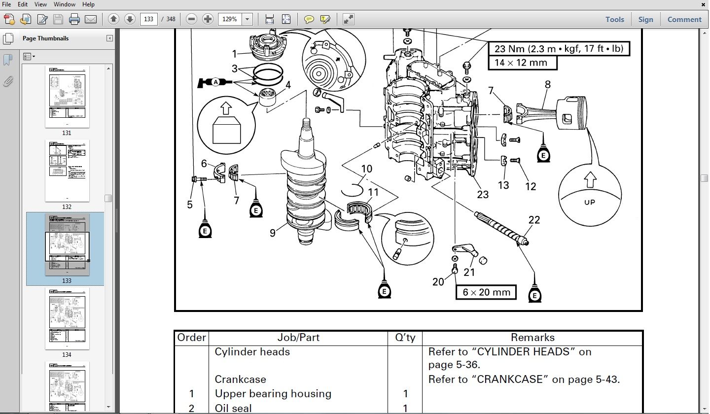 hight resolution of yamaha f40b jet outboard service repair manual pid range 67c 1035