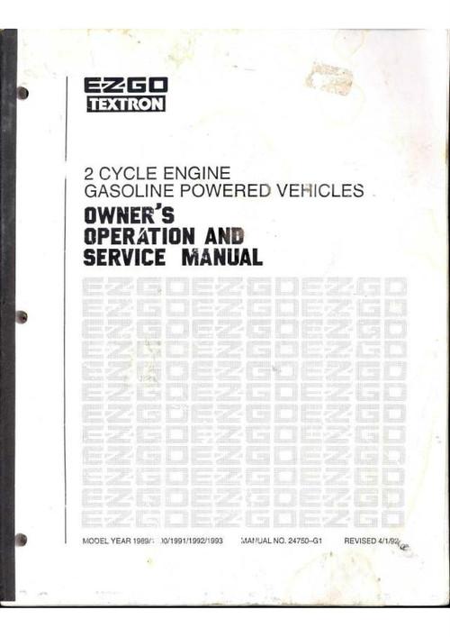 Free Ezgo Golf Cart Manual
