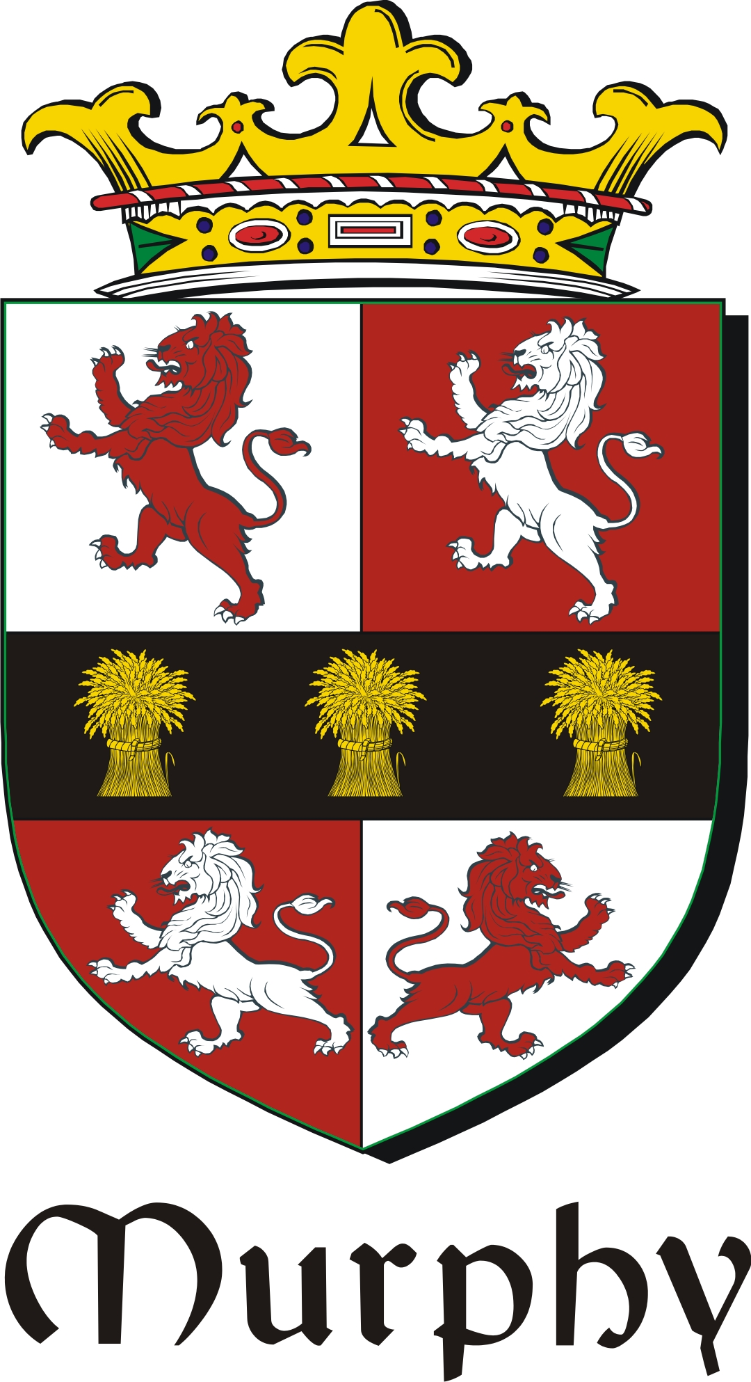 Murphy 2 Family Crest Irish Coat Of Arms Image Download