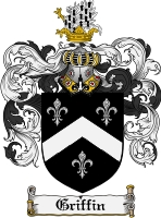 Griffin Family Crest Griffin Coat of Arms Digital Download