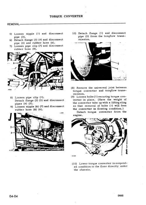 Komatsu D55S-3 Dozer Shovel Workshop Repair & Service