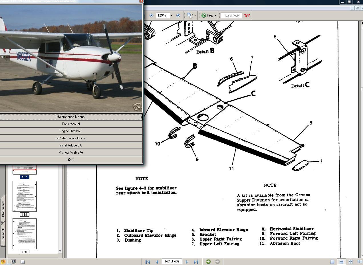hight resolution of cessna 172 skyhawk manual set engine 77 86