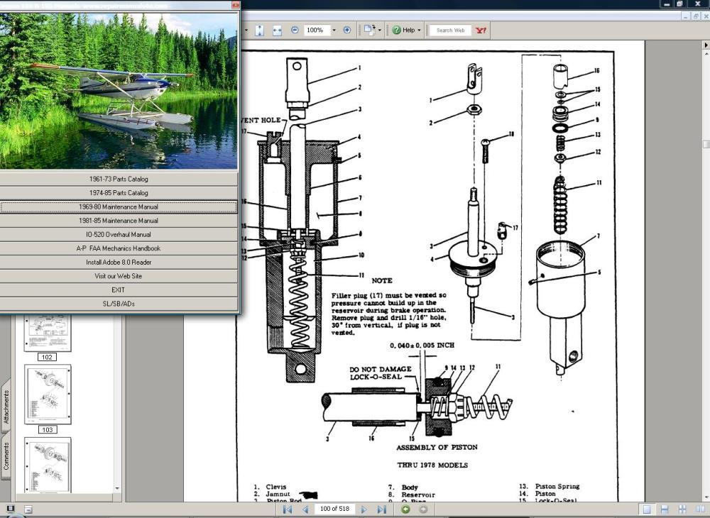medium resolution of cessna 185 service repair manual set engine