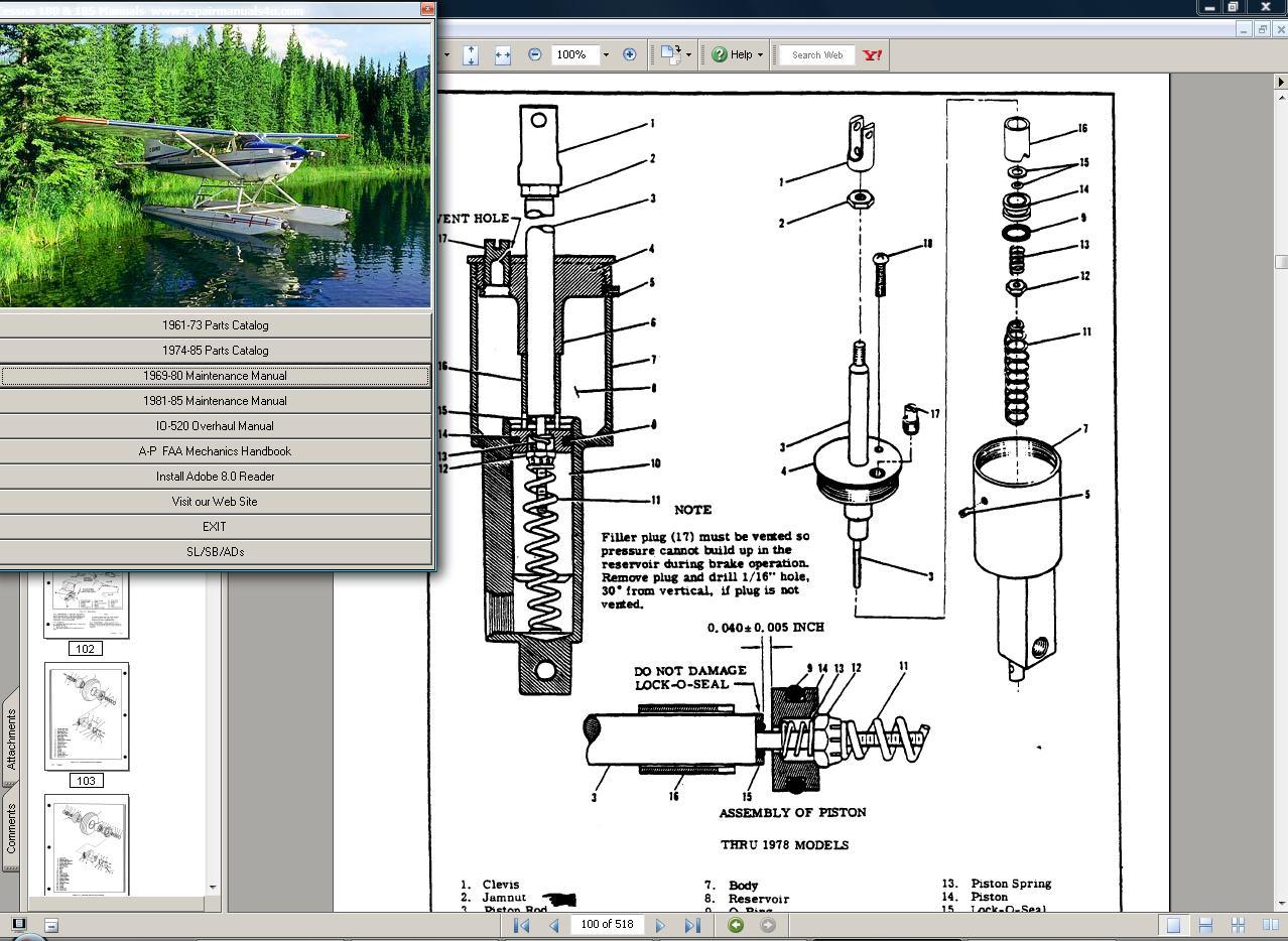 hight resolution of cessna 185 service repair manual set engine