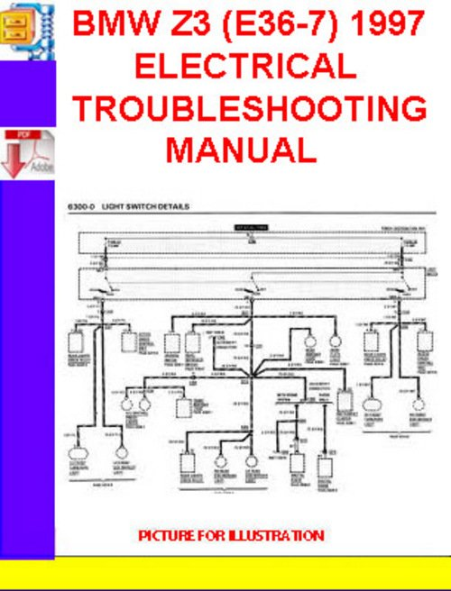 Bmw Wiring Diagram Symbols Bmw Z3 E36 7 1996 1997 Electrical Troubleshooting Manual