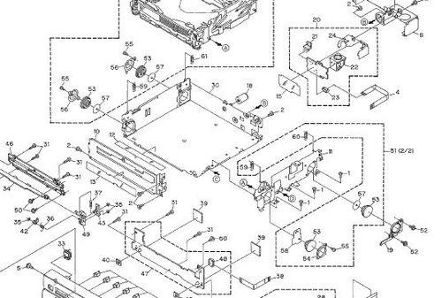 Pioneer CDX MG2006 Renault audio service manual wiring