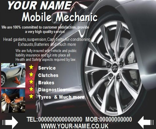 Mobile Mechanic Business Templates Forms Download Business