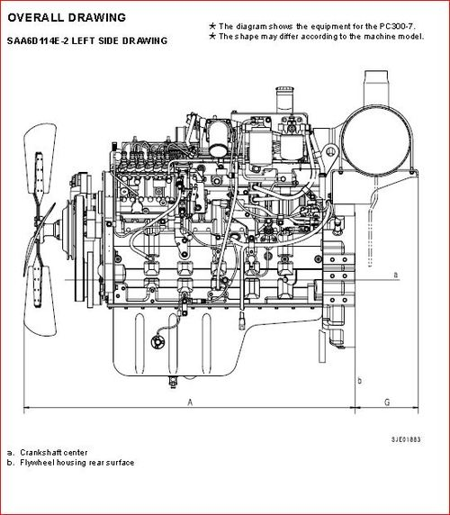 Komatsu 114 series diesel engine workshop manual.SAA6D114E
