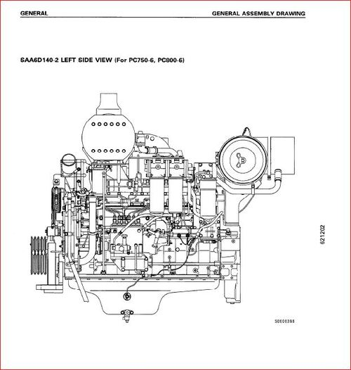 KOMATSU S6d140-2 diesel engine shop manual. SA6D140-2