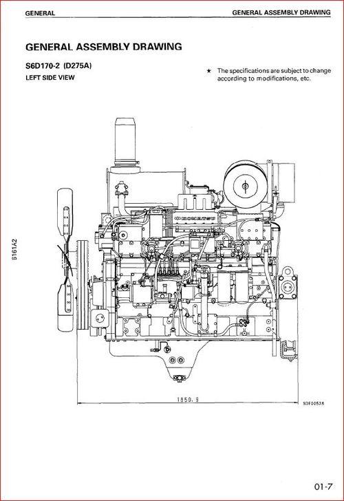 Komatsu S6D170E-2.SA6D170-2,SAA6D170-2 shop manual