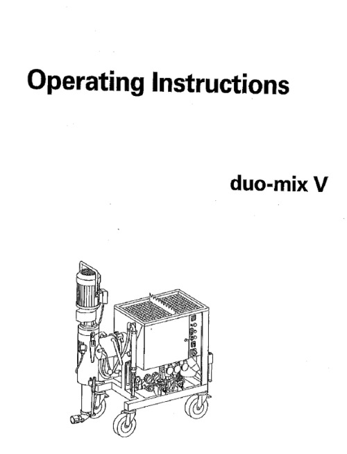 M-Tec Duo mix operating instructions and parts manual