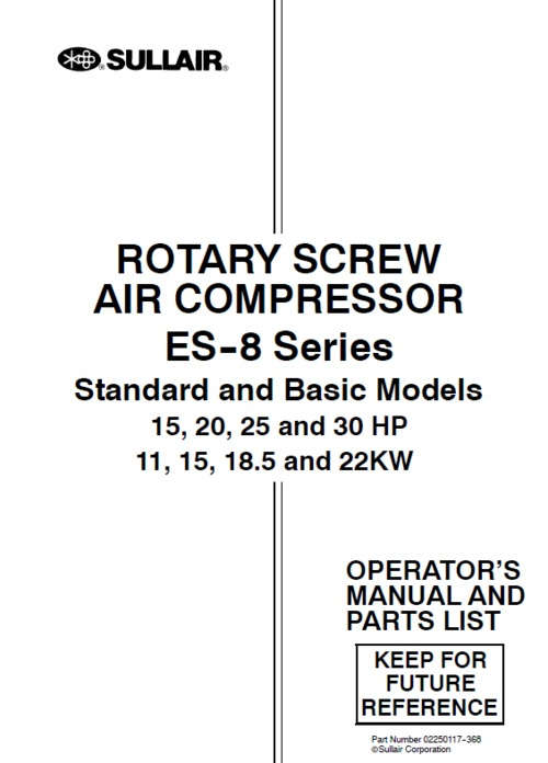 Sullair compressor manual parts