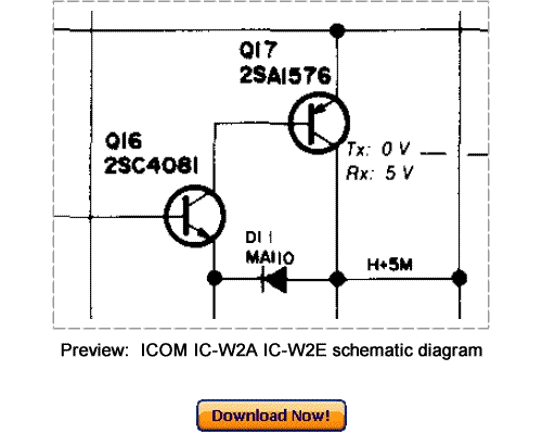 Download ICOM IC-W2A IC-W2E Service Repair Manual