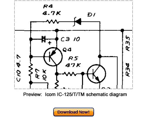 Download ICOM IC-125 IC-125T IC-125TM Service Repair