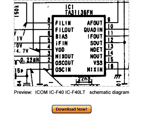 Download ICOM IC-F40 IC-F40LT Service Repair Manual