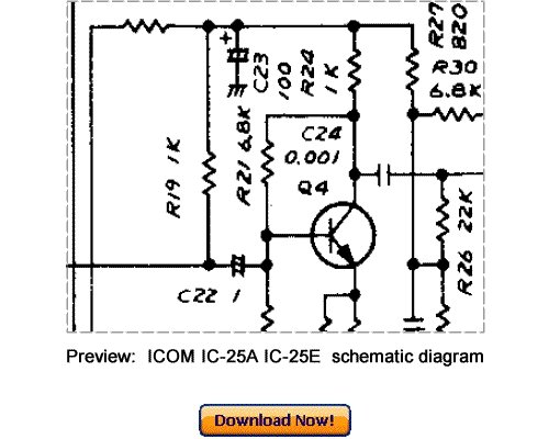 Download ICOM IC-25A IC-25E Service Repair Manual