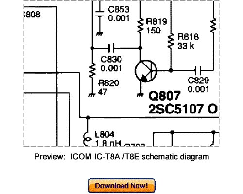 Download ICOM IC-T8A IC-T8E Service Repair Manual