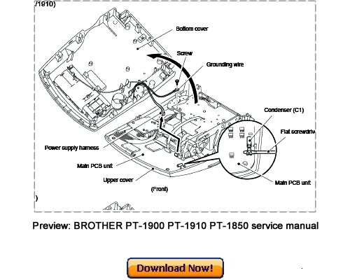 BROTHER PT-1850 PT-1900 PT-1910 Service Repair Manual
