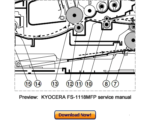 KYOCERA FS-1118MFP KM-1820 Service Repair Manual Download